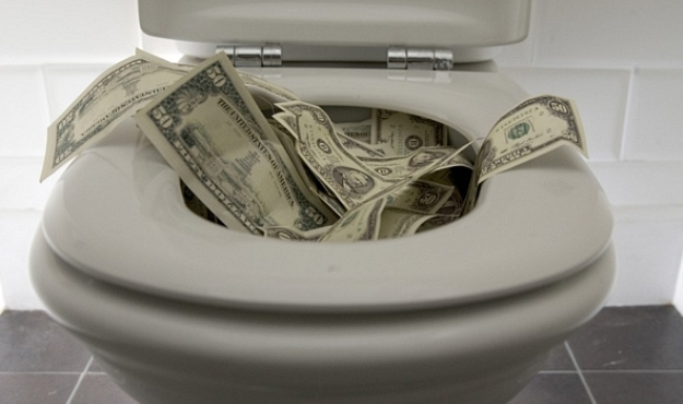 money-in-toilet